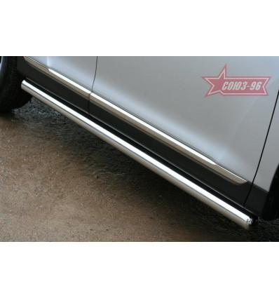 Пороги труба на Toyota Highlander TOHR.80.0952