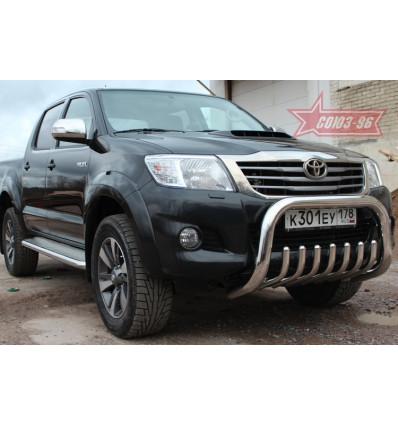 Решетка передняя мини на Toyota Hilux TOHX.57.0922
