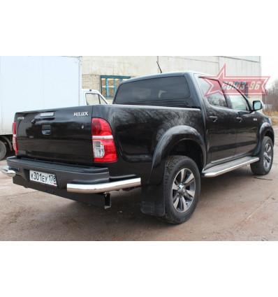 """Защита задняя """"уголки"""" на Toyota Hilux TOHX.76.0928"""
