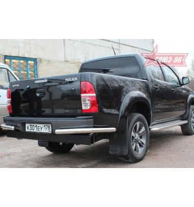 """Защита задняя """"уголки"""" на Toyota Hilux TOHX.76.0929"""