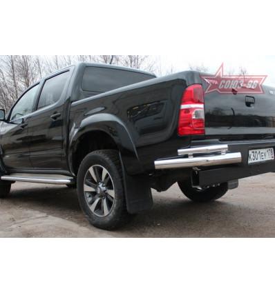 """Защита задняя """"уголки"""" на Toyota Hilux TOHX.76.0930"""