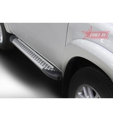 Пороги алюминиевый профиль на Toyota Hilux TOHX.83.5063