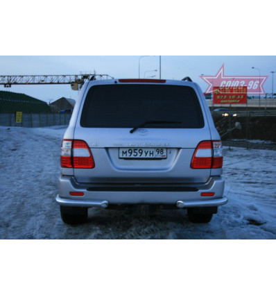 """Защита задняя """"уголки"""" на Toyota Land Cruiser 100(105) TC10.76.0026"""