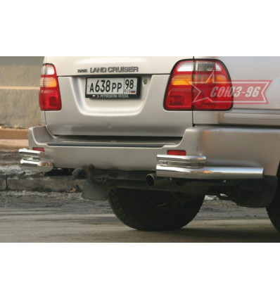 """Защита задняя """"уголки"""" на Toyota Land Cruiser 100(105) TC10.76.0030"""