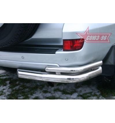 """Защита задняя """"уголки"""" на Toyota Land Cruiser 120 TC12.76.0042"""