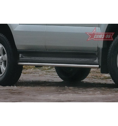 Защита штатного порога на Toyota Land Cruiser 120 TC12.86.0034