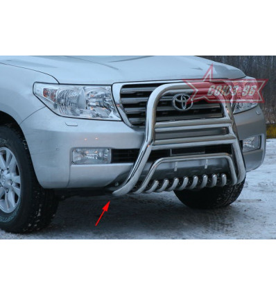 Решетка передняя мини на Toyota Land Cruiser 200 TC20.55.0560