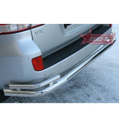 """Защита заднего бампера """"волна"""" на Toyota Land Cruiser 200 TC20.75.0580"""