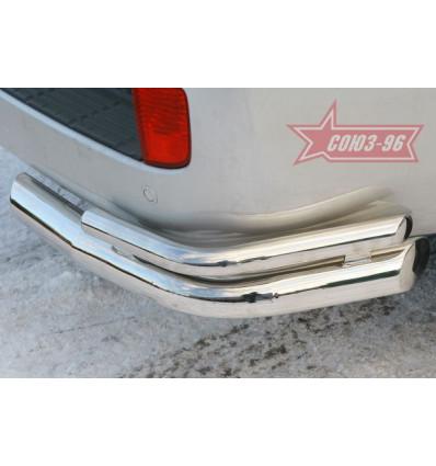 """Защита заднего бампера """"уголки"""" на Toyota Land Cruiser 200 TC20.76.0578"""