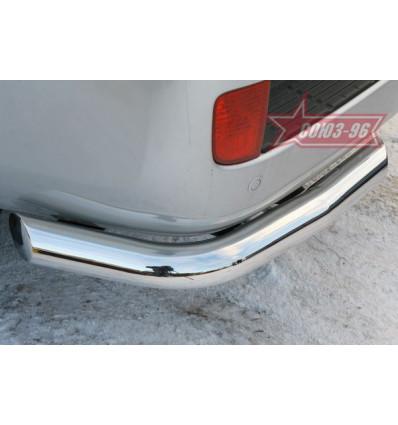 """Защита заднего бампера """"уголки"""" на Toyota Land Cruiser 200 TC20.76.0579"""