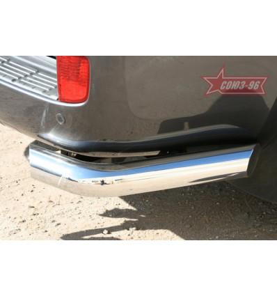 """Защита заднего бампера """"уголки"""" на Toyota Land Cruiser 200 TC20.76.1106"""