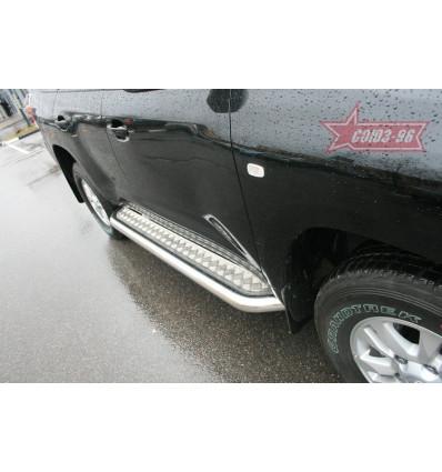 Пороги с листом на Toyota Land Cruiser 200 TC20.82.0659
