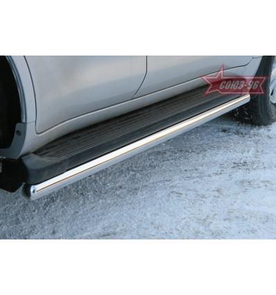 Защита штатных порогов на Toyota Land Cruiser 200 TC20.86.0574
