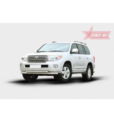 Защита переднего бампера на Toyota Land Cruiser 200 TC20.48.1456