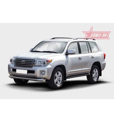 Защита переднего бампера на Toyota Land Cruiser 200 TC20.48.1469