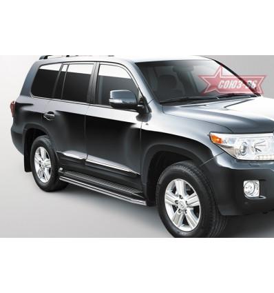 Защита штатного порога на Toyota Land Cruiser 200 LX57.86.0629