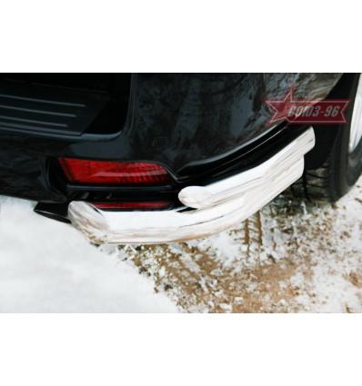 """Защита задняя """"уголки"""" на Toyota Land Cruiser 150 TC15.76.0992"""