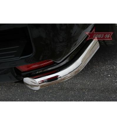 """Защита задняя """"уголки"""" на Toyota Land Cruiser 150 TC15.76.0993"""