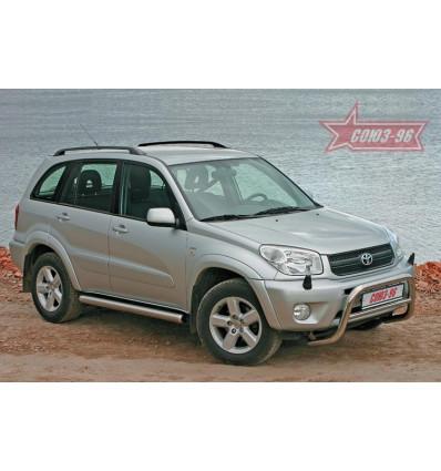 Решетка передняя мини на Toyota Rav 4 TRAV.56.0037