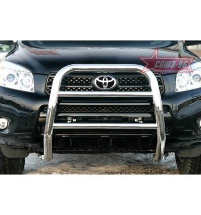 Решетка передняя мини на Toyota Rav 4 TRAV.55.0302