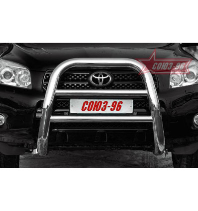 Решетка передняя мини на Toyota Rav 4 TRAV.55.0305