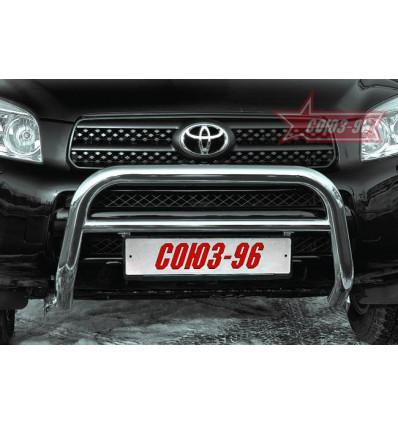 Решетка передняя мини на Toyota Rav 4 TRAV.56.0303