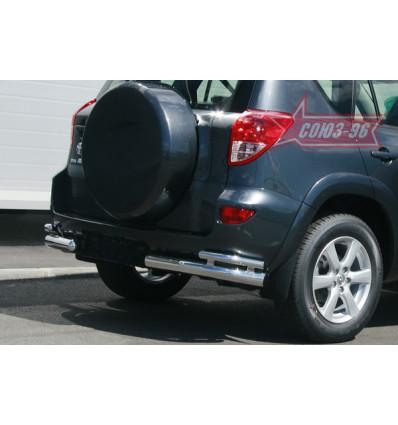 "Защита задняя ""уголки"" на Toyota Rav 4 TRAV.76.0462"