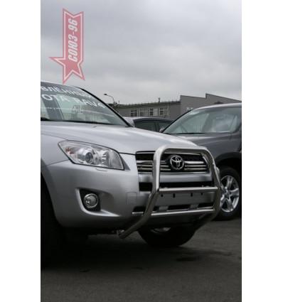 Решетка передняя мини на Toyota Rav 4 TRAV.55.0863