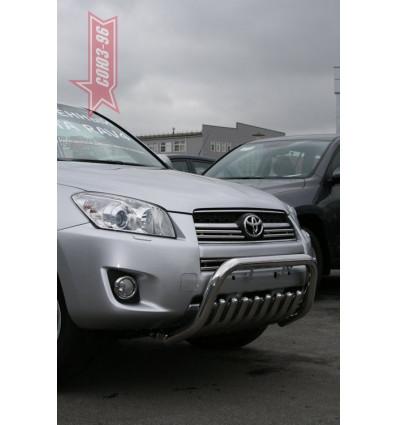 Решетка передняя мини на Toyota Rav 4 TRAV.57.0865
