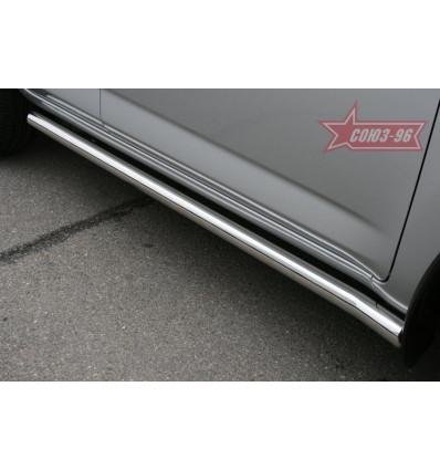 Пороги труба на Toyota Rav 4 TRAV.80.0868