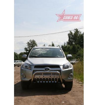 Решетка передняя мини труба на Toyota Rav 4 TRAV.57.0880