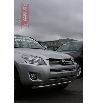 Защита переднего бампера труба на Toyota Rav 4 TRAV.48.0861