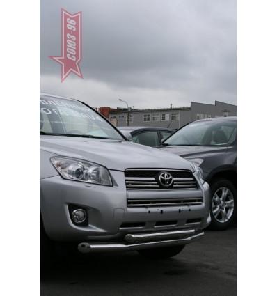 Защита переднего бампера  труба на Toyota Rav 4 TRAV.48.0862