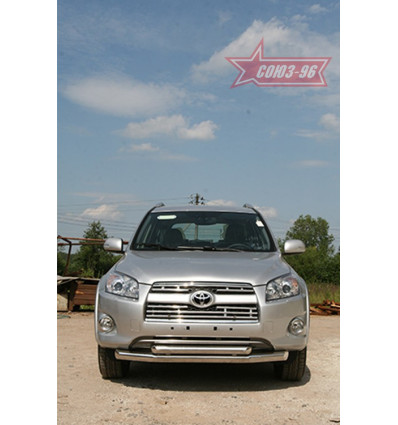 Защита переднего бампера труба на Toyota Rav 4 TRAV.48.0877