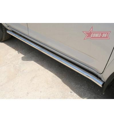 Пороги труба на Toyota Rav 4 TRAV.80.0883