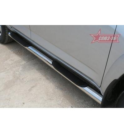 Пороги с проступями на Toyota Rav 4 TRAV.80.0884