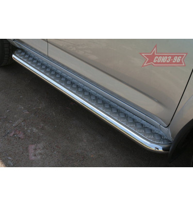 Пороги с листом на Toyota Rav 4 TRAV.82.0885