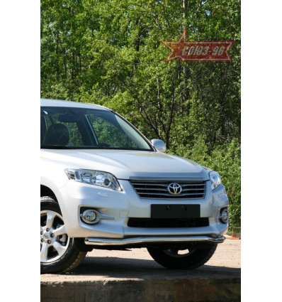 "Защита переднего бампера ""волна"" на Toyota Rav 4 TRAV.48.1075"