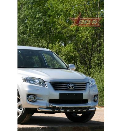 Защита переднего бампера на Toyota Rav 4 TRAV.48.1077