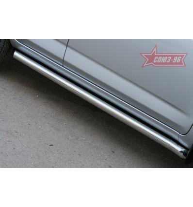 Пороги труба на Toyota Rav 4 TRAV.80.1078