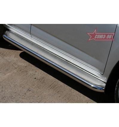 Пороги с листом на Toyota Rav 4 TRAV.82.1081
