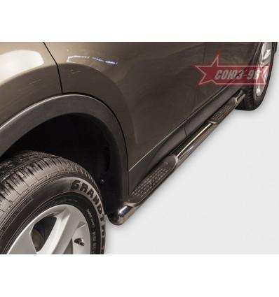 Пороги с проступями на Toyota Rav 4 TRAV.81.1706