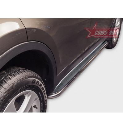 Пороги с листом на Toyota Rav 4 TRAV.82.1707