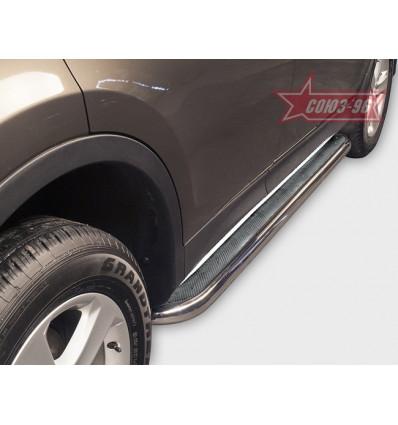 Пороги с листом на Toyota Rav 4 TRAV.82.1708