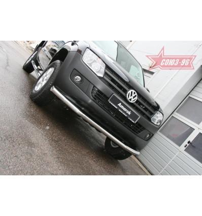 Защита переднего бампера на Volkswagen Amarok VWAM.48.1236
