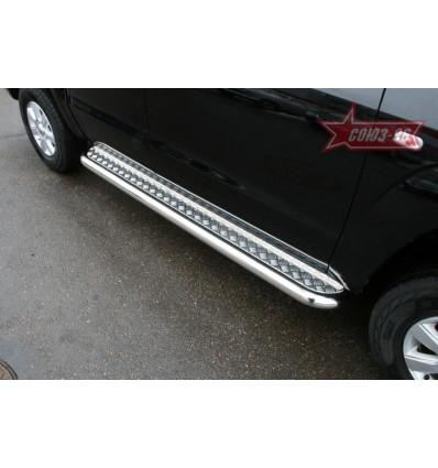 Пороги с листом на Volkswagen Amarok VWAM.82.1238