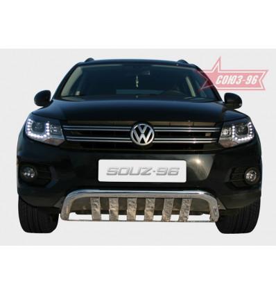 Защита переднего бампера на Volkswagen Tiguan VWTI.45.0445