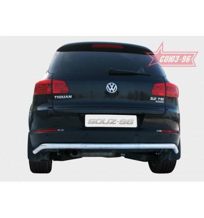 "Защита задняя ""волна"" на Volkswagen Tiguan VWTI.75.1409"
