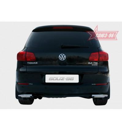 "Защита задняя ""уголки"" на Volkswagen Tiguan VWTI.76.1407"