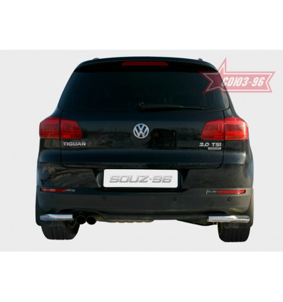 "Защита задняя ""уголки"" на Volkswagen Tiguan VWTI.76.1408"